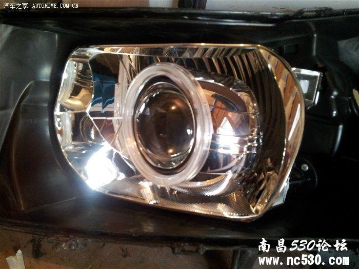 南昌雪佛兰科鲁兹大灯改装双光透镜天使眼加装一套装喇叭高清图片